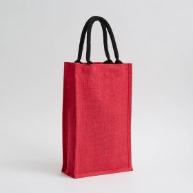 dyed two bottle jute bag in natural jute direct from manufacturer